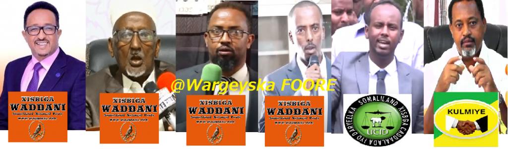 <div>Is-Bahaysiga Mucaaridka Somaliland Ee  WADDANI & UCID Oo KULMIYE Ku Karbashay Xilalkii Maayarrada Magaalooyinka Waaweyn Ee Dalka</div>